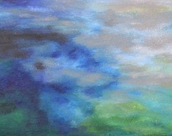 I stood there and hollered... Original abstract painting 100x50cm