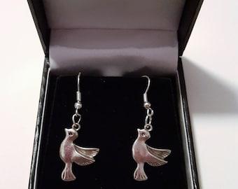 Tibetan Silver Dove Earrings