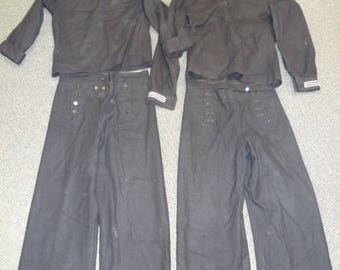 Two US Navy uniforms