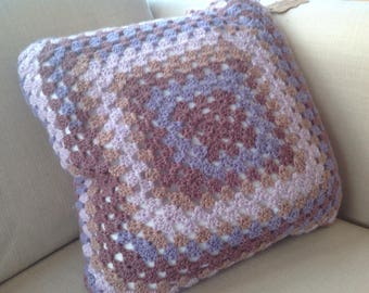 Beautiful hand made cushion + cover in autumnal colours *HALF PRICE*