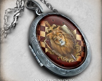 Photo Locket Potter Necklace / Bravery / Antique Locket / Nerd Gifts / Nerdy / Wizard / Witch / Magic / Magical / Wizardry / School of / HP