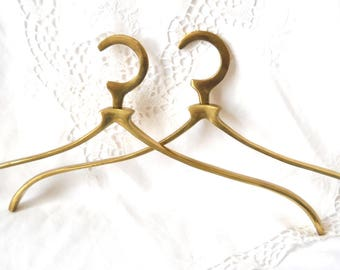 1 wedding dress hanger wedding hanger coat hanger french vintage brass clothes hanger bridal hanger