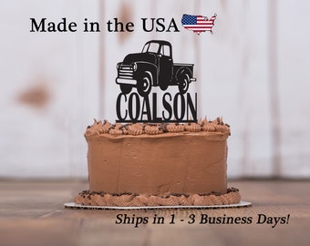 Truck cake toppers Etsy