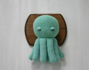 Crochet Taxidermy Sleepy Octopus