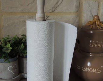 For wooden paper towel holder