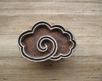 Cloud Stamp Hand Carved Wodden Stamp for Paper Textile