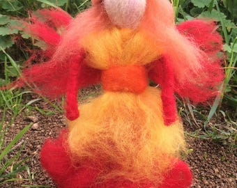 Felted Fairy - Fire Element
