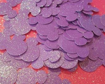 Glittery Lilac Purple Minnie Mouse Confetti