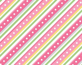 Little One Flannel Too Fabric - Diagonal Stripe