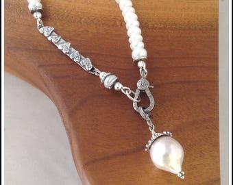 Mystic White Moonstone  Bracelet - Pave Diamond Clasp-Baroque Pearl,Graduation,Wedding Jewelry,Diamond and Pearl,Gemstone Diamond Bracelet