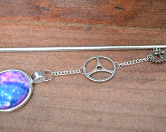 Bookmark - sting hair Galaxy silver plated