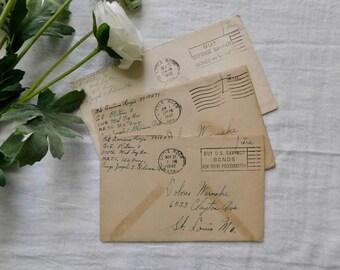 Vintage 1942 Love Letters - Set Of 3