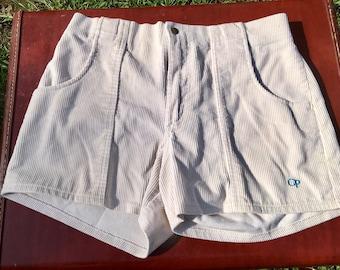 1980's OP Ocean Pacific Courdoroy Shorts size 32 waist Surfer board shorts vintage