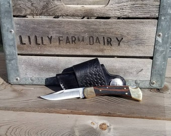 Quick Draw Knife Sheath and 110 Buck Knife