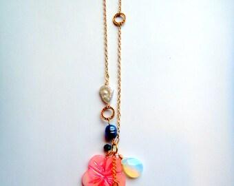 Kona || Blue chalcedony Hawaiian necklace
