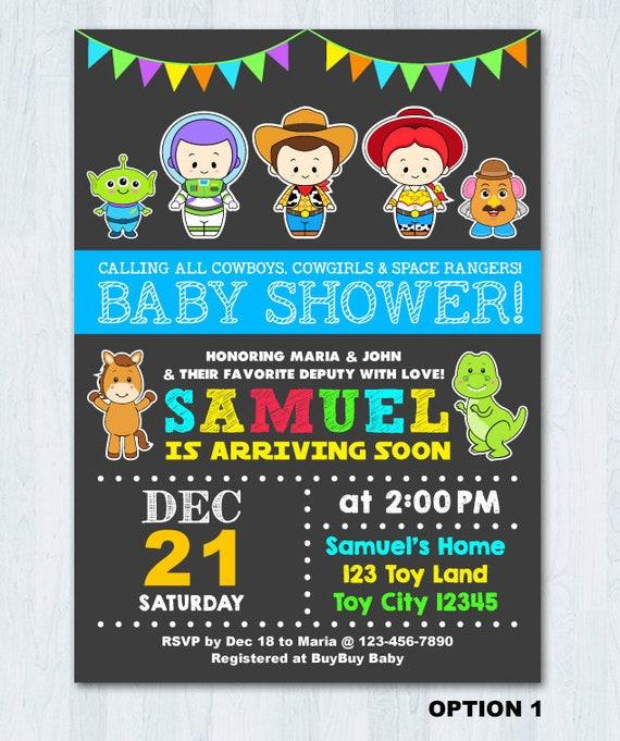 Toy Story Baby Shower Invitation Toy Story Invitation Toy
