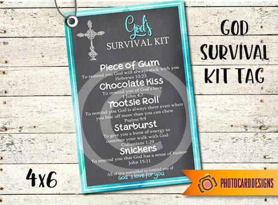 Gods survival kit tag pdf printable church tag survival kit stopboris Images