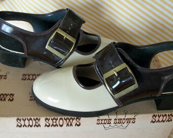 """Vintage shoes, """"Side Shows"""" funky 60's spectator style"""