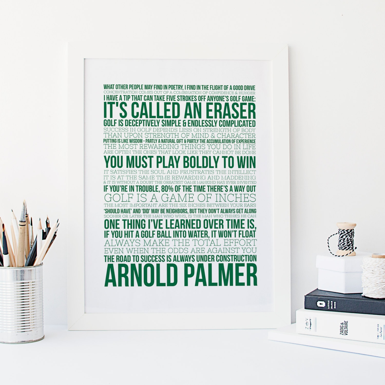 Golf And Life Quotes Arnold Palmer Quotes Golf Print Sports Typography Golf