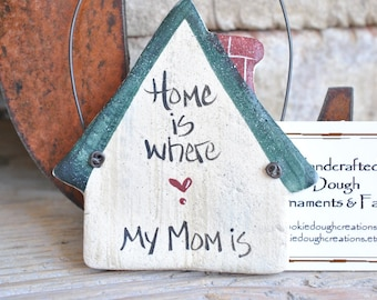 Mother's Day Gift Salt Dough Ornament Mom's Birthday New Mom Gift First Mothers Day Christmas Ornament Mom Keepsake Gift
