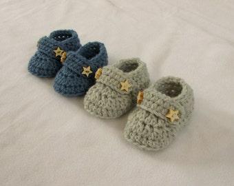 Crochet Baby Booties / Loafers Written Pattern