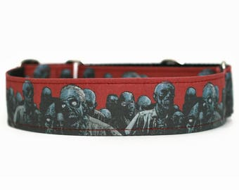 Zombies Dog Collar / Martingales Dog Collar