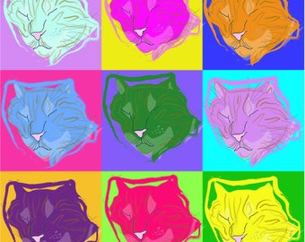 Customized and Homemade Pop Pet Art (Cats)