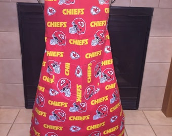 KC Chiefs Tailgating Kitchen Reversible Apron Kansas City