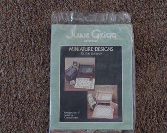 "June Grigg Designs ""Miniature Designs for the Nursery"" Cross Stitch Kit NIP"