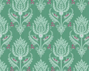 Primavera Damask Teal - Patty Young - Riley Blake Designs 100% Quilters Cotton Available in Yards, Half Yards and Fat Quarters