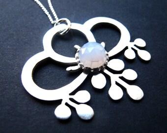 Sterling Silver Fuji Wisteria Flower Pendant
