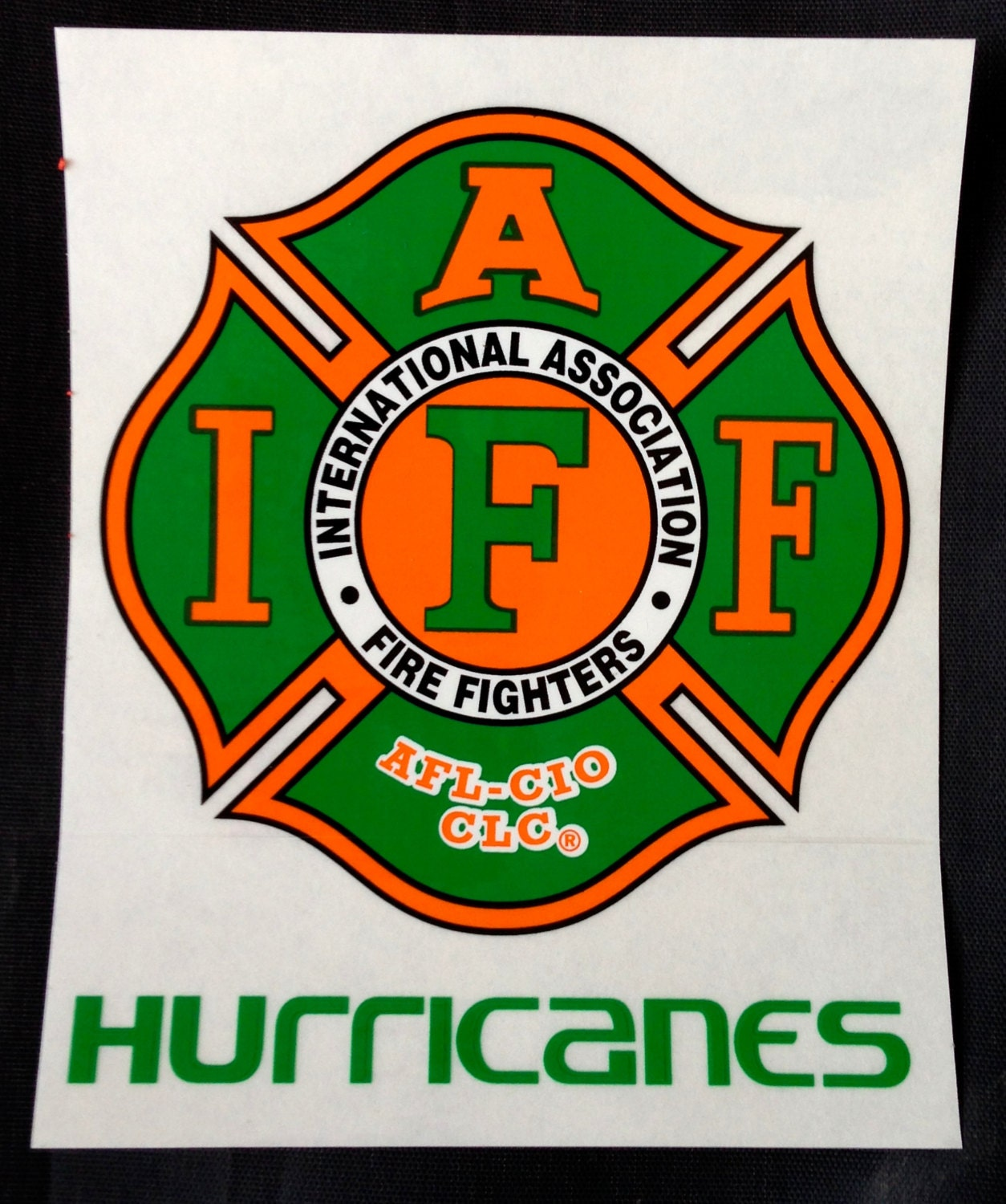 IAFF Miami Hurricanes Car Decal for Union Firefighters Free