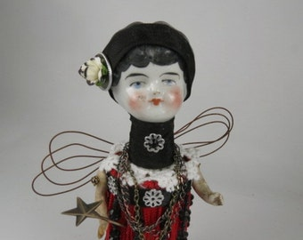"Angel ""Joanie the Jitterbug Girl"" Assemblage Art Doll"