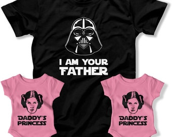 First Fathers Day Gift, Daddy and Me Shirts, Matching TShirts, Dad and Baby Matching Shirts, I Am Your Father Shirt, Dad Daugh