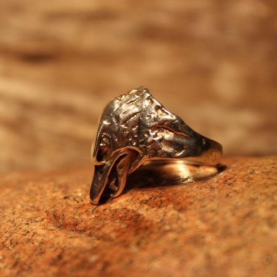Vintage Mens Silver Eagle Ring Native American Size 6.5 Mens Eagle Head Silver Ring 7.7 Grams Vintage Sterling Silver Eagle Mens Ring
