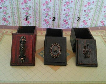 Big casket. Accessories for the doll house. Doll miniature. Dollhouse. 1:12.