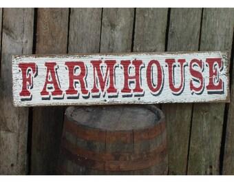 FARMHOUSE wood sign fixer upper style farmhouse rustic