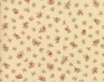 Prairie floral on Ivory.. Roses Chocolate II by Moda Fabrics 33273-11