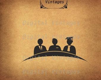 Business Icon Silhouette World Global Jury Vintage Antique Digital Image Download Printable Graphic Clip Art Prints HQ 300dpi svg jpg png