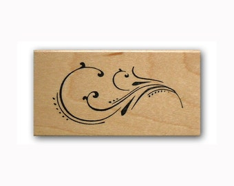fancy Flourish Mounted rubber stamp, filigree, decorative element, Sweet Grass Stamps  #23