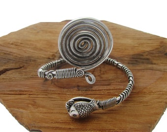 Silver Plated Copper Wire Wrapped cuff Bracelet