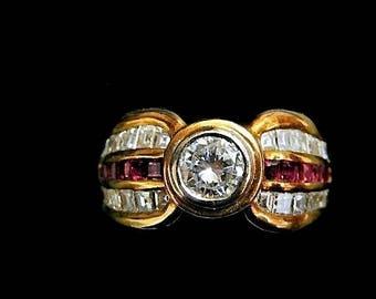 DIAMOND RUBY RING 6397DG340
