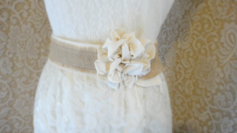 Burlap wedding sash rustic southern barn wedding bridesmaid zoom ombrellifo Gallery