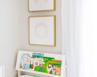 Blush Pink XO Watercolor Print | Girls Nursery Art | Nursery Art