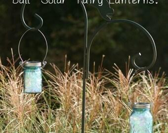 Christmas Gift - Blue Ball Mason Jars - Fairy Lanterns - Garden Lighting - Mason Jar Decor - Solar Lights - Vintage Jar