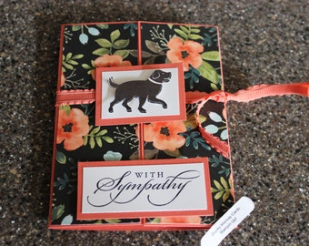 Stampin Up Homemade Greeting Card Dog With Sympathy Card 7106