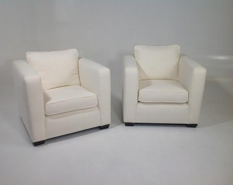 Modern pair of club chairs