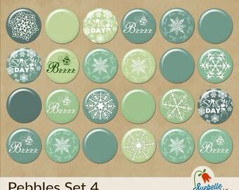 Digital Scrapbooking Embellishments • Pebbles Set 4 • Wintertime Fun
