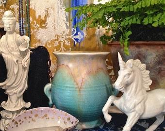 Art Deco Beswick Ceramic vase Studio pottery Flower vase Pottery Vase Ceramics and Pottery Handmade Pottery Anniversary Gifts