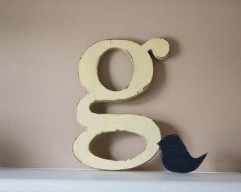 Wood Letters, Distressed Wooden Letter, Nursery letters